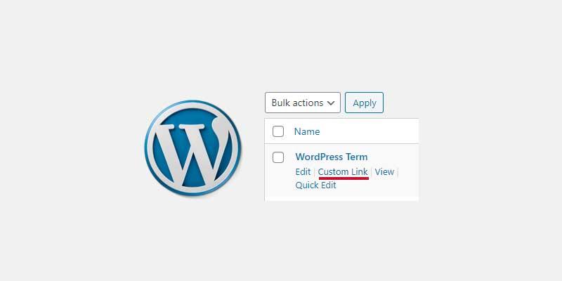 Row Actions Custom Term Link