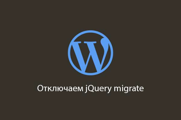 Disable jquery migrate in wordpress