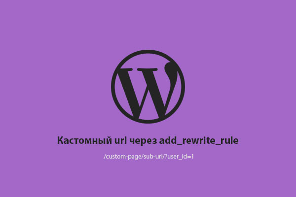 WP Custom url with rewrite rule