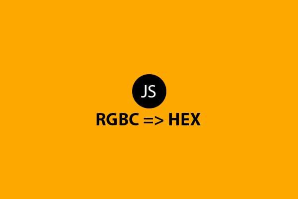 RGB to Hex javascript